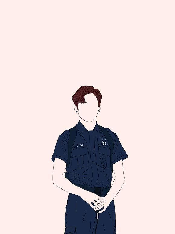 BTS Jungkook Simple Fanart | Bangtan Boys | BTS, Bts ...