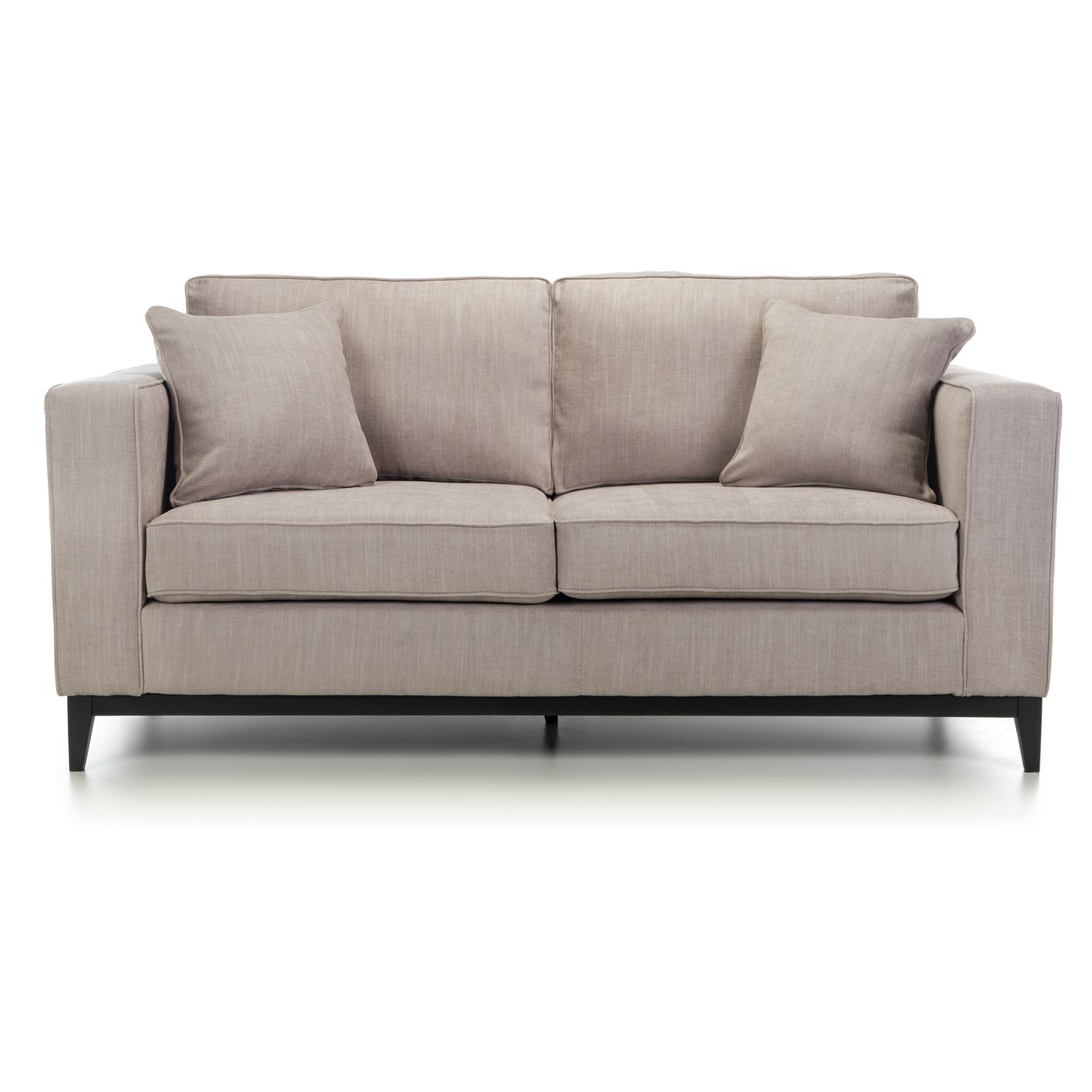 Adelaide 3 Seater Sofa In Mink With Walnut Plinth Achica Sofa 3 Seater Sofa Sale Design