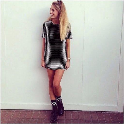 aa87de9b1a This brandy Melville Tshirt dress, I want. So badly. | School ...