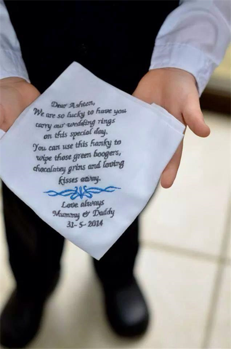 Wedding Handkerchiefs Page Boy Gift Ideas Ring Bearer Gifts Boys Flower Handkerchief Embroidered