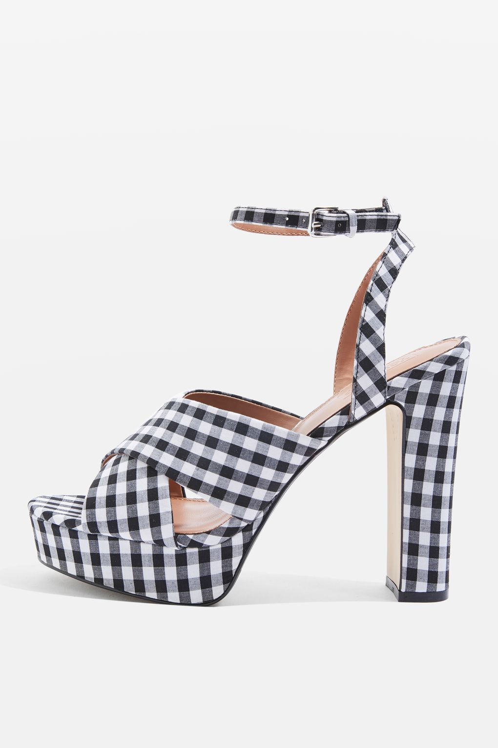 1920489755d MADRID Gingham Cross-Strap Platform Shoes | For the Foot | Shoes ...