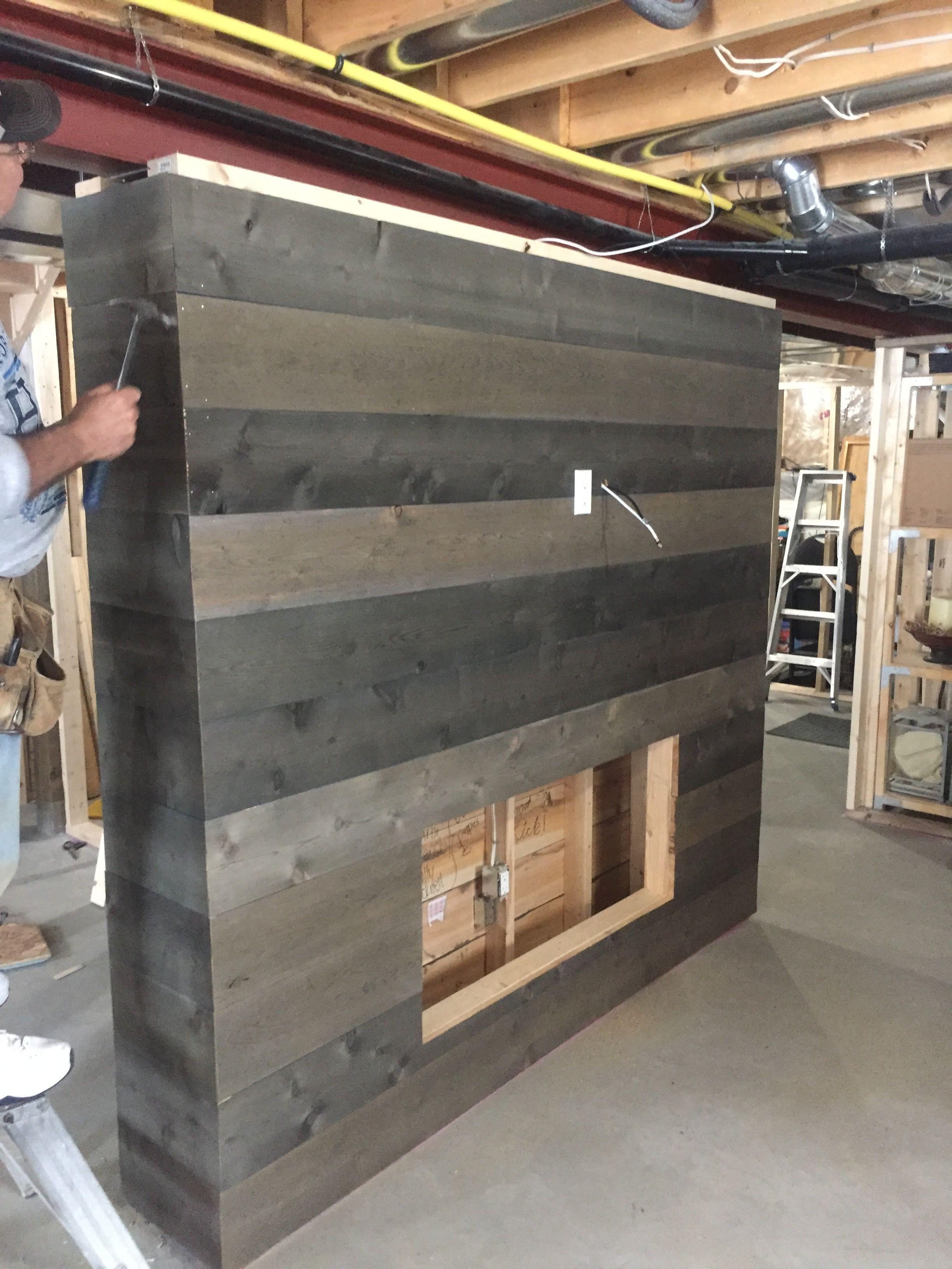 Barn board wall. We made the barnboard
