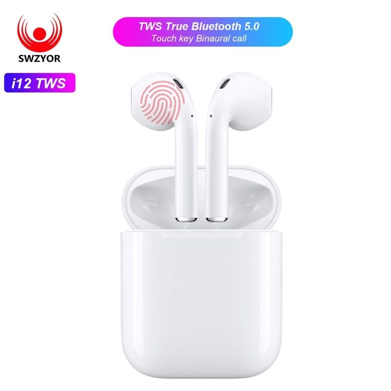 9b8385c06a0 SWZYOR Mini i12 TWS Air pod Bluetooth 5.0 Earphone Sports True Wireless  Earbuds Touch Ear pod Magnetic Charging Box PK i10 i11(China)