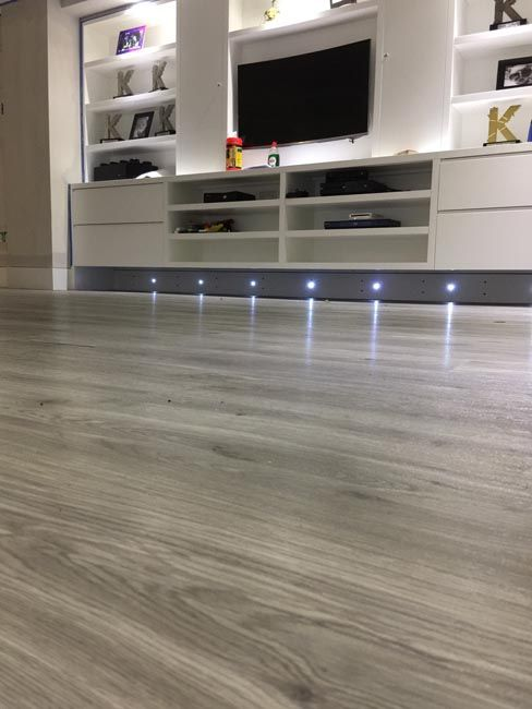 Amtico Grey Wood Flooring To Premises In South London Kitchen
