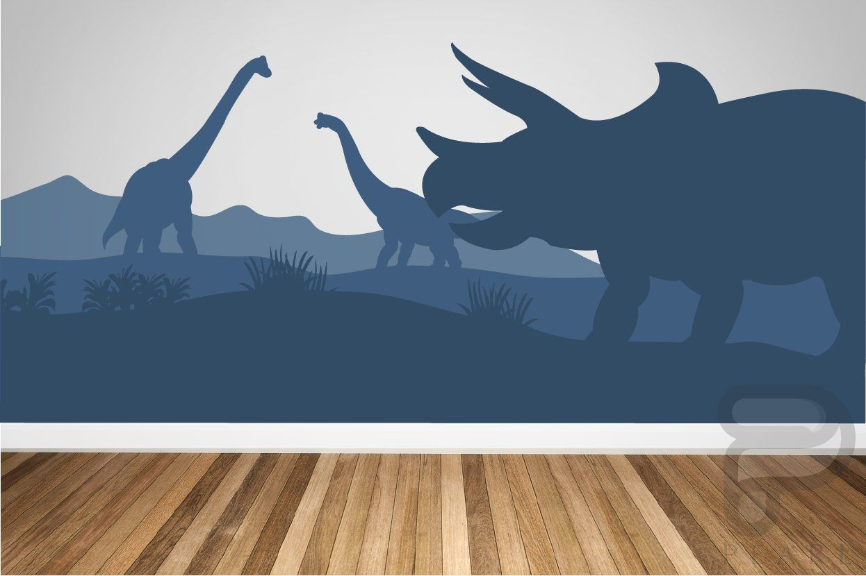 Dinosaur Wall Decal Dinosaur Wall Mural Peel And Stick Mural I