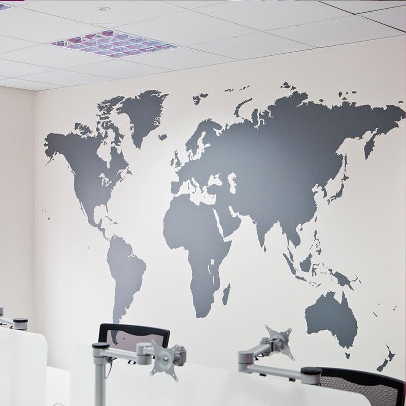 World map art decals mural products pinterest products huge world map removable vinyl wall sticker decal mural art home decor gumiabroncs Images