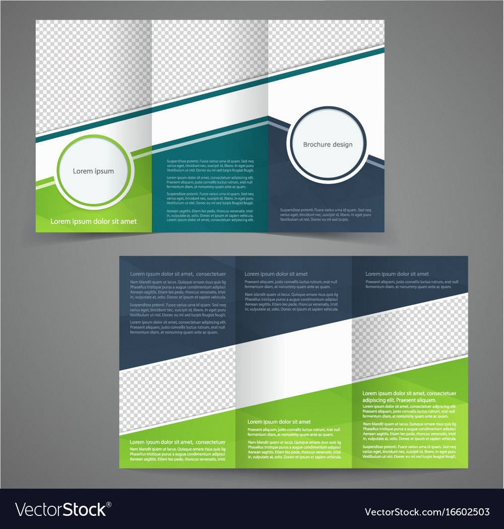 Double Sided Brochure Template Inspirational Modern Two Sided Flyer Vector Template Stock Vector Double Sided Brochure Double Sided Flyer Brochure Template