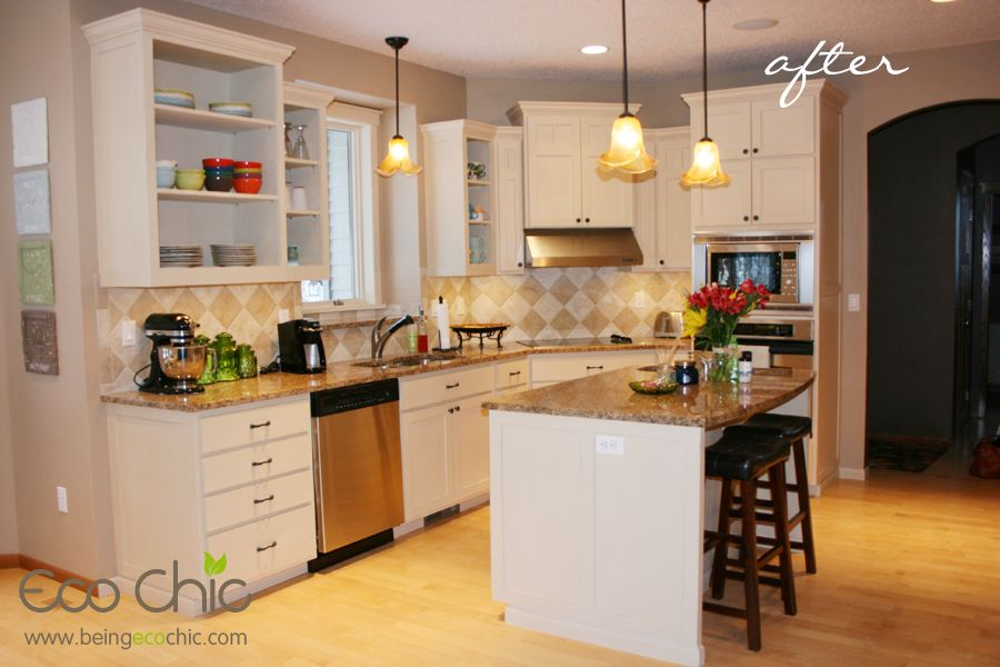 Before & After Kitchen facelift with Chalk Paint® by Annie Sloan ...
