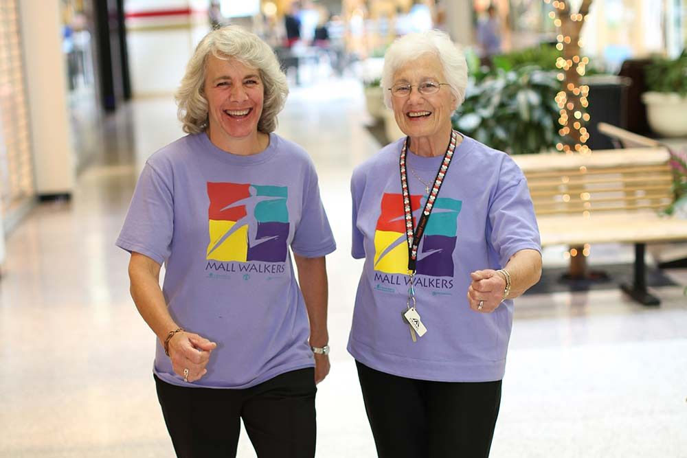 Image result for seniors walking in the mall