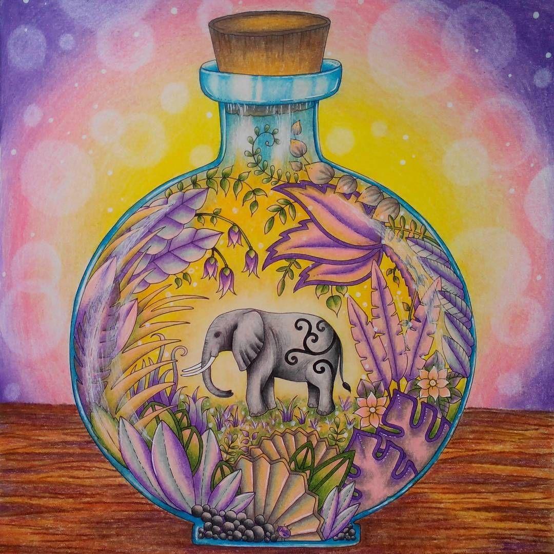 elephant magicaljungle johannabasford magicaljunglecoloringbook