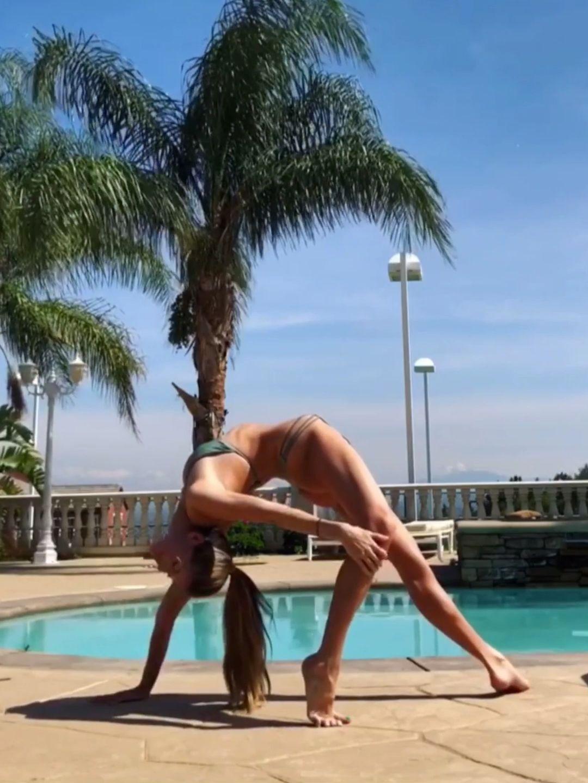 Yoga practice. Inversions. Flexibility. #fitness #inspirational #motivation #stretch #gymnastics