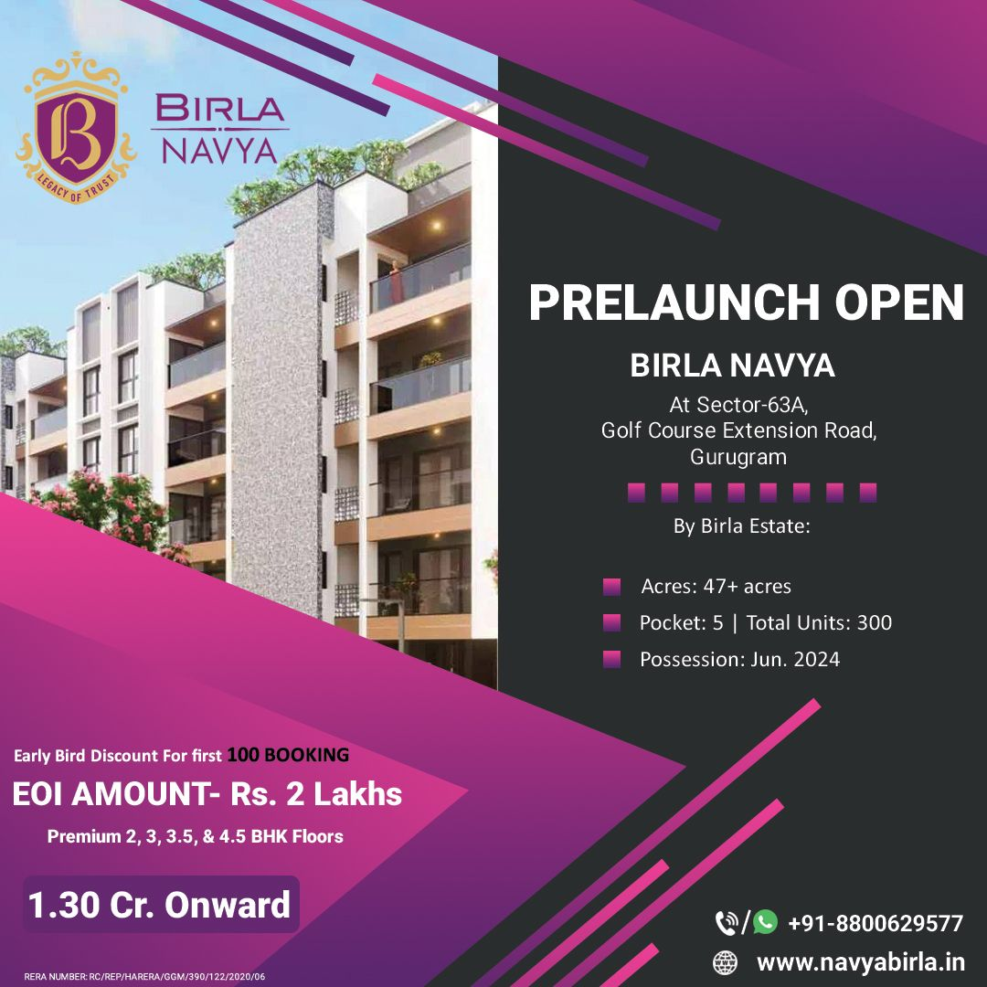 Birla Navya Located In Sector 63a Gurgaon In 2020 Site Visit Investment Property Property For Sale