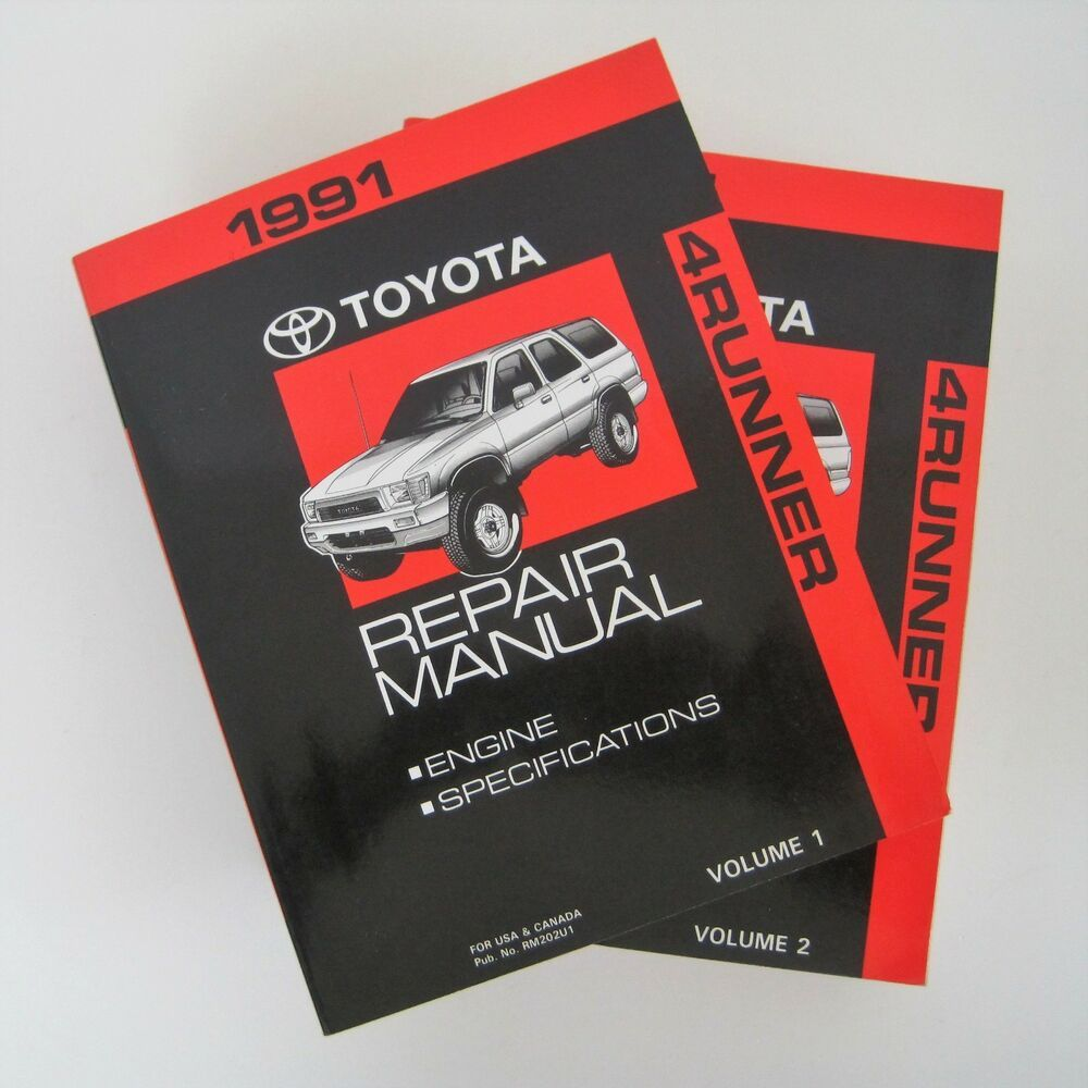 1991 toyota 4runner truck oem service factory repair shop manual set vol 1 2 [ 1000 x 1000 Pixel ]
