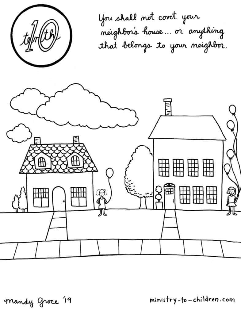 10th Commandment Coloring Page: You Shall Not Covet in ...