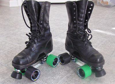 I [heart] Davids · Custom Combat Boot Quad Roller Skates! | Roller ...