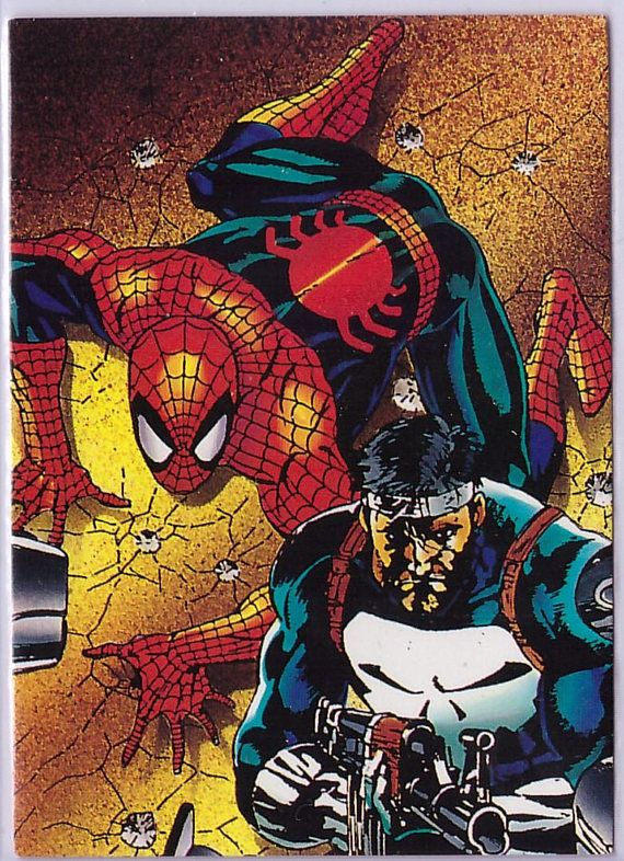 59 Punisher And Spider Man Vigilante Card From Spider Man 2 30th