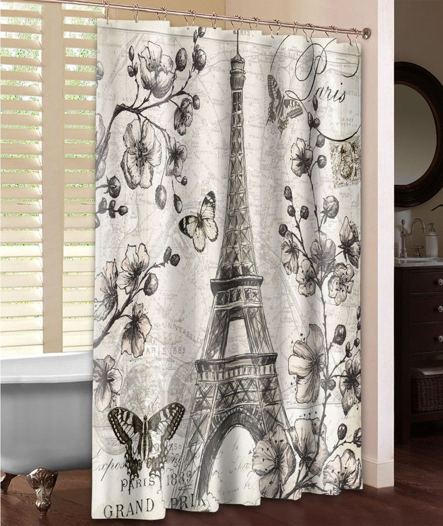 Ermanno Paris In Bloom Single Shower Curtain Bedroom Decor Home