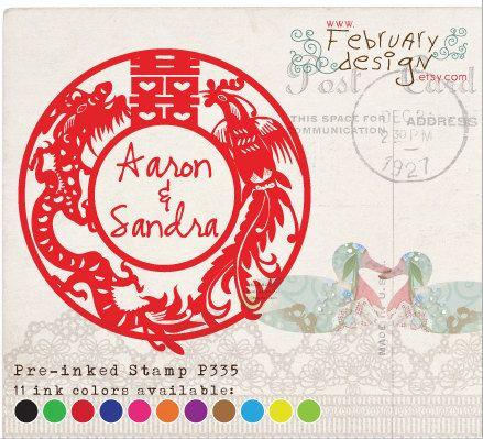 Wedding Custom Self Inking Stamp