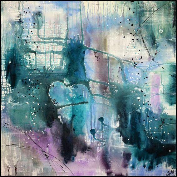 Digitalt Billede Af Maleriet Www Galleriambp Dk Primaer Farve Lilla Sekundaer Farve Hvid Beautiful Art Abstract Artwork