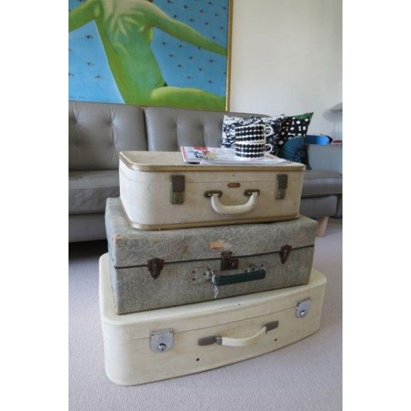 Vintage 3 Suitcases or perhaps Unusual Shabby Chic Coffee Table Bedroom Storage