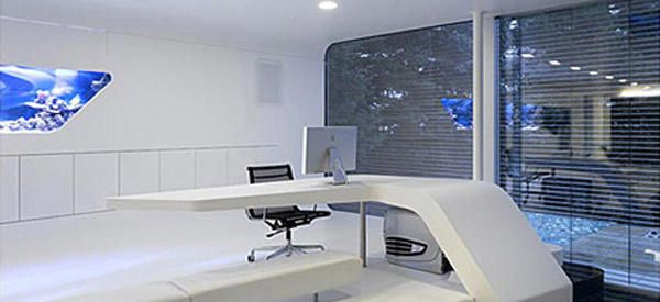 Warp into the Future with this HighTech Mac Home Office  Espaos