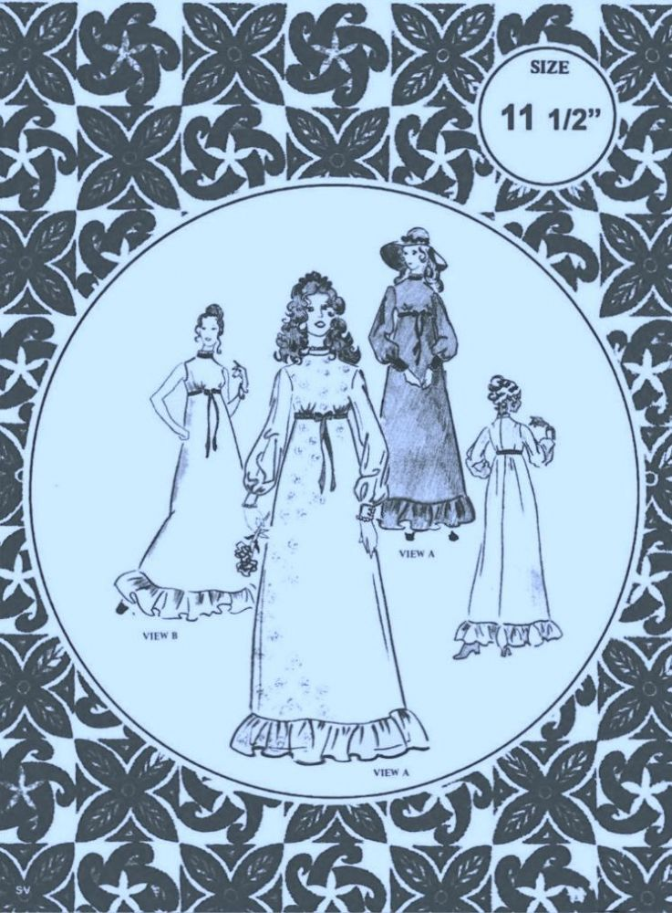 UK Freepost PRINTED Vintage Sewing Pattern Full Size Dolls Clothes ...