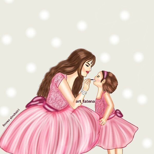 Pin By Tiara Septiyani On Ismuart Girly Pictures Romantic Art Mother Daughter Quotes