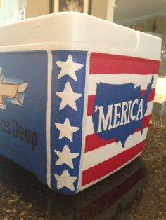 Painted Cooler Corners Google Search Sorority Coolers Cooler Painting Cooler
