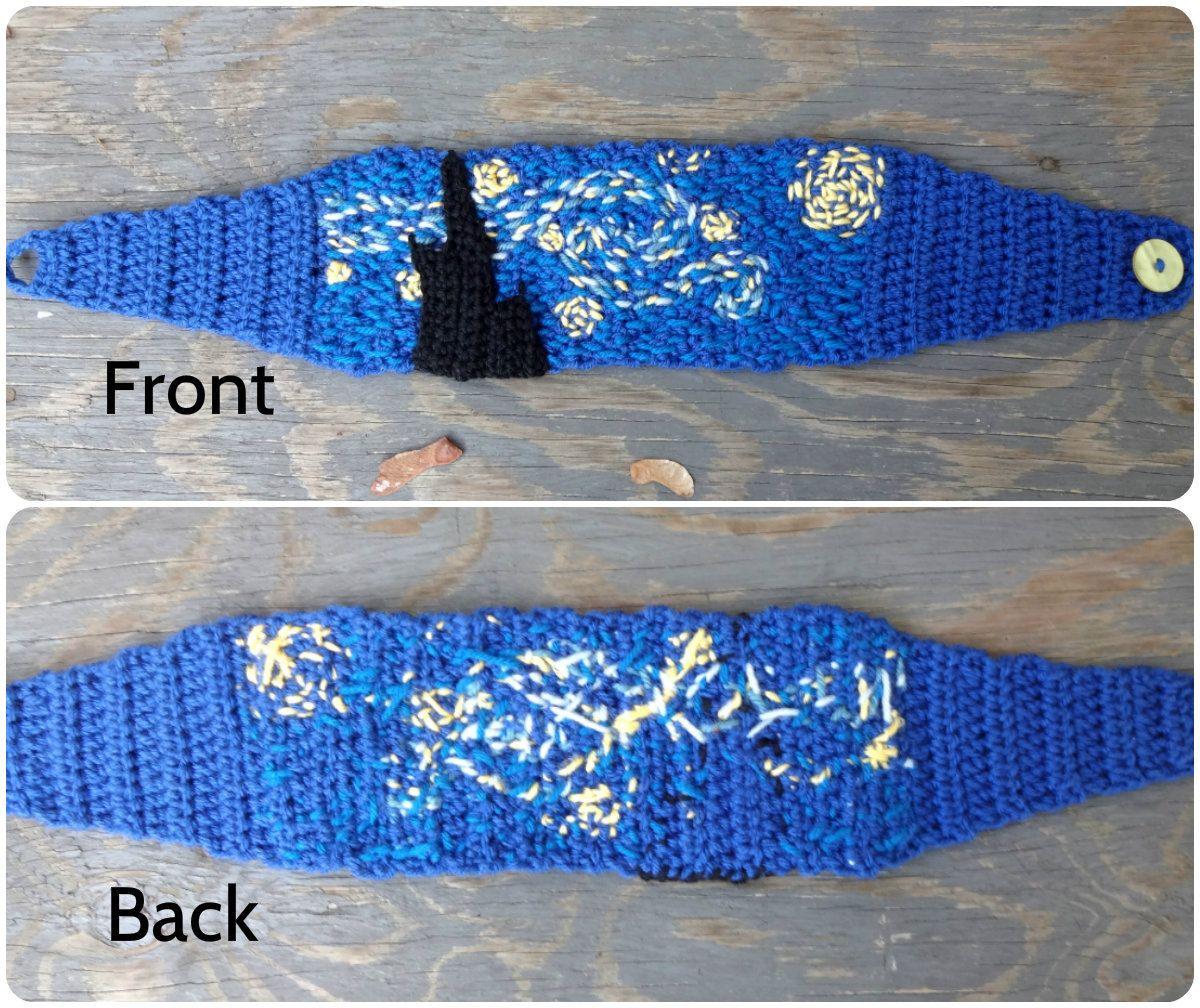 Crochet Headband Van Gogh Starry Night Embroidered by MycoCrochet, $33.00