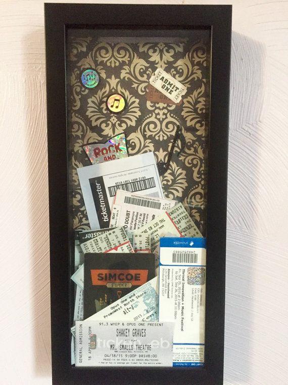 Ticket Stub Shadow Box by inconformista on Etsy