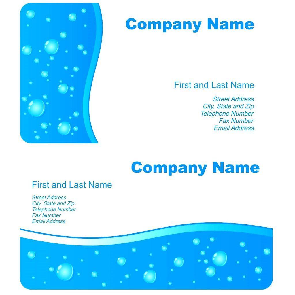Elegante Vorlage Für Visitenkarten In Microsoft Word Mit Hd
