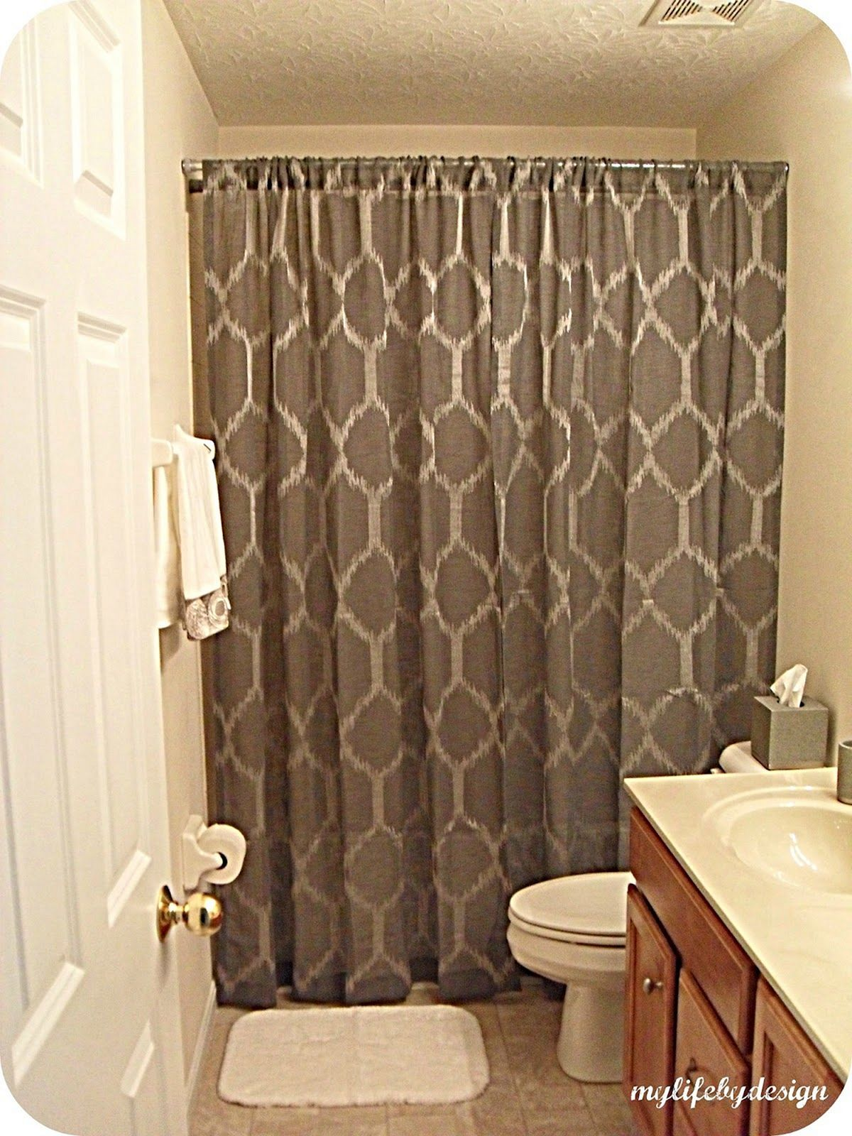5 Gorgeous Bathroom Shower Curtain Ideas Bathrooms Shower Curtain Lengths Bathroom Shower Curtains Shower Curtain With Valance