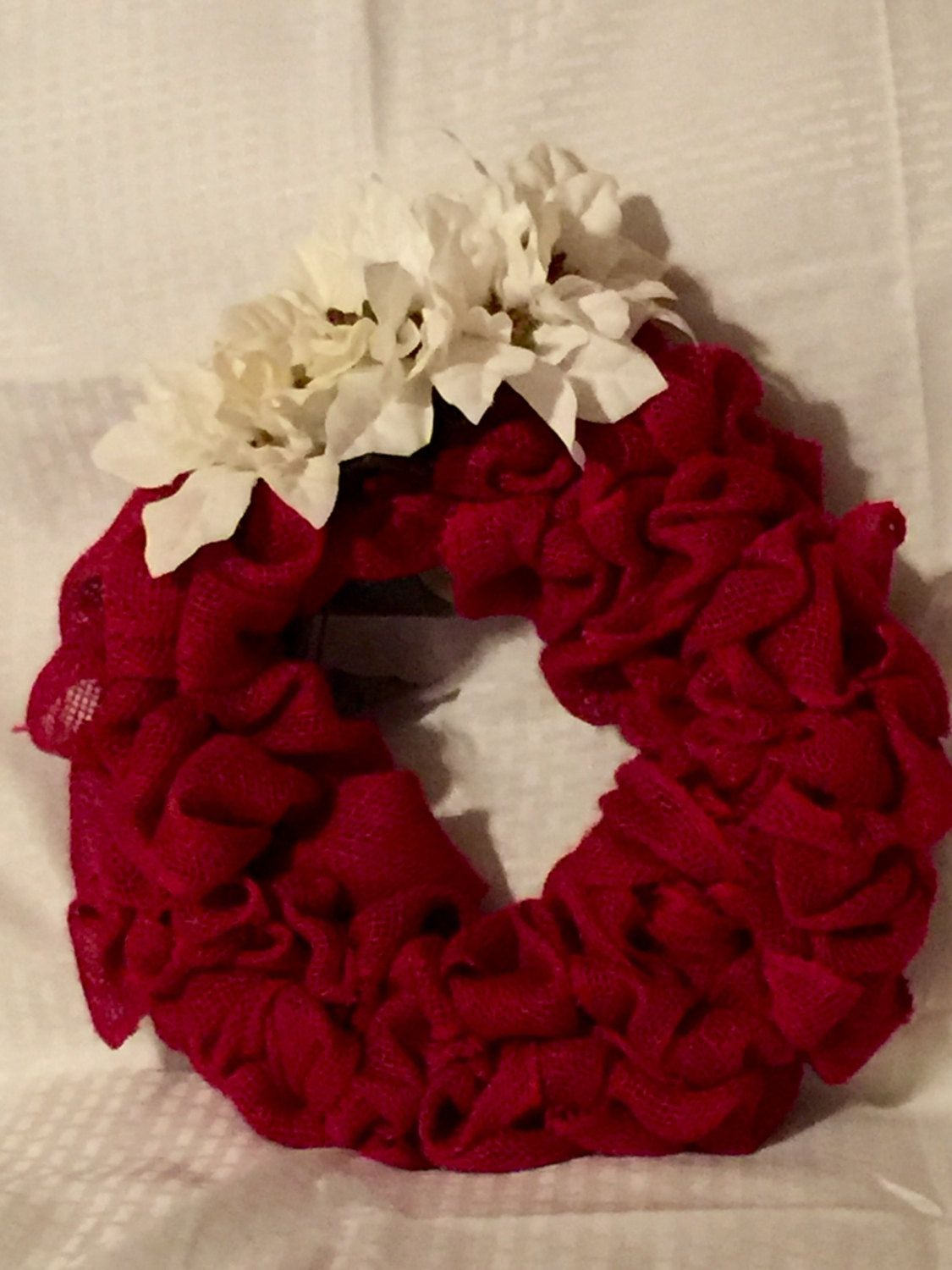 Burlap Wreath by TinasWreathsandMore on Etsy