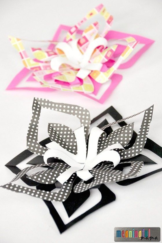 Kirigami Paper Flower Tutorial - How to Make Paper Flowers for Kids - Video Tutorial Included