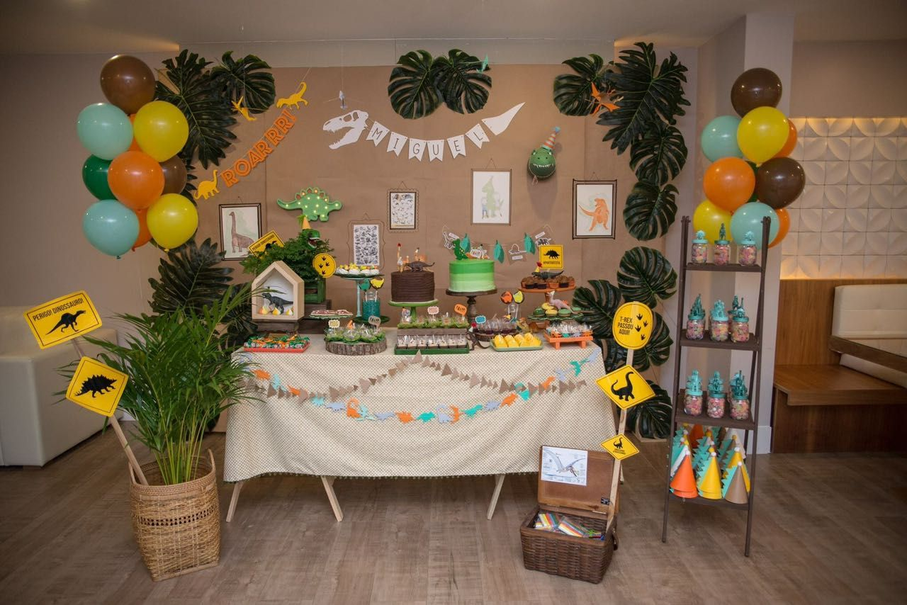 Dino party ideas / Festa dinossauros