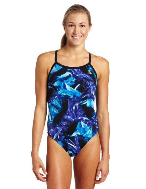 TYR Sport Girls Firerock Diamondback Swim Suit