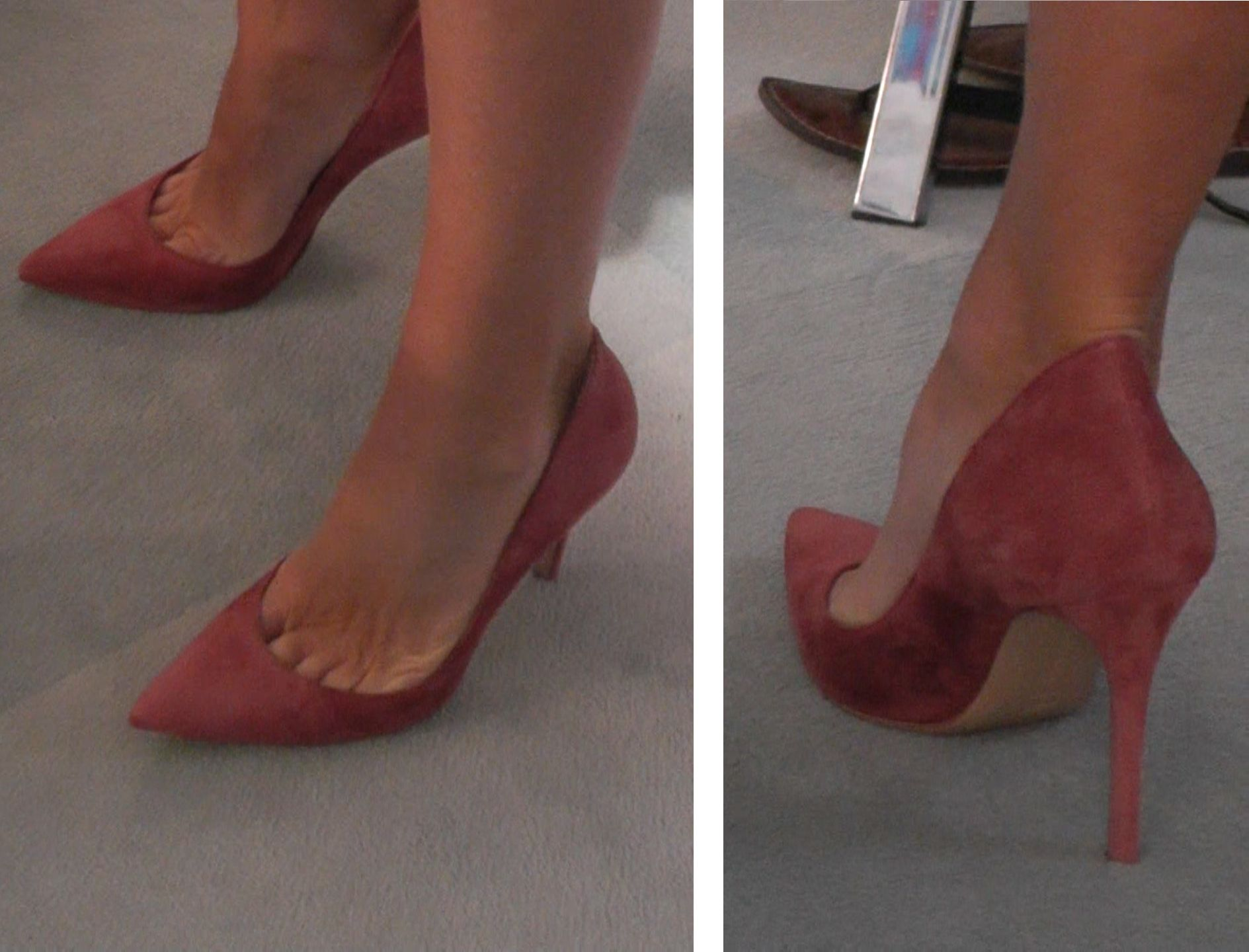 e3b161458 Kelly Ripa's new burgundy suede Sergio Rossi heels. LIVE with Kelly and  Michael Fashion Finder