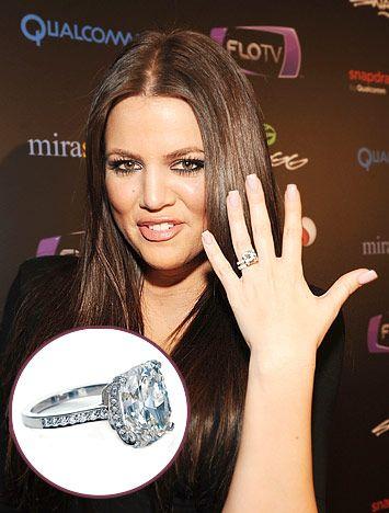 Celebrity Engagement Ring Trends Khloe Kardashian Engagement Ring Celebrity Engagement Rings Pretty Engagement Rings