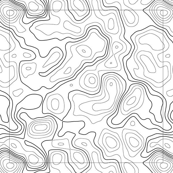 reading contour patterns on a topographic map delectable