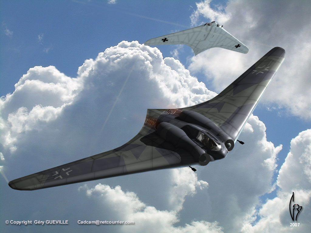 Horten Ho 229 | Horten Ho 229 Flying Wing Fighter (Comment ...