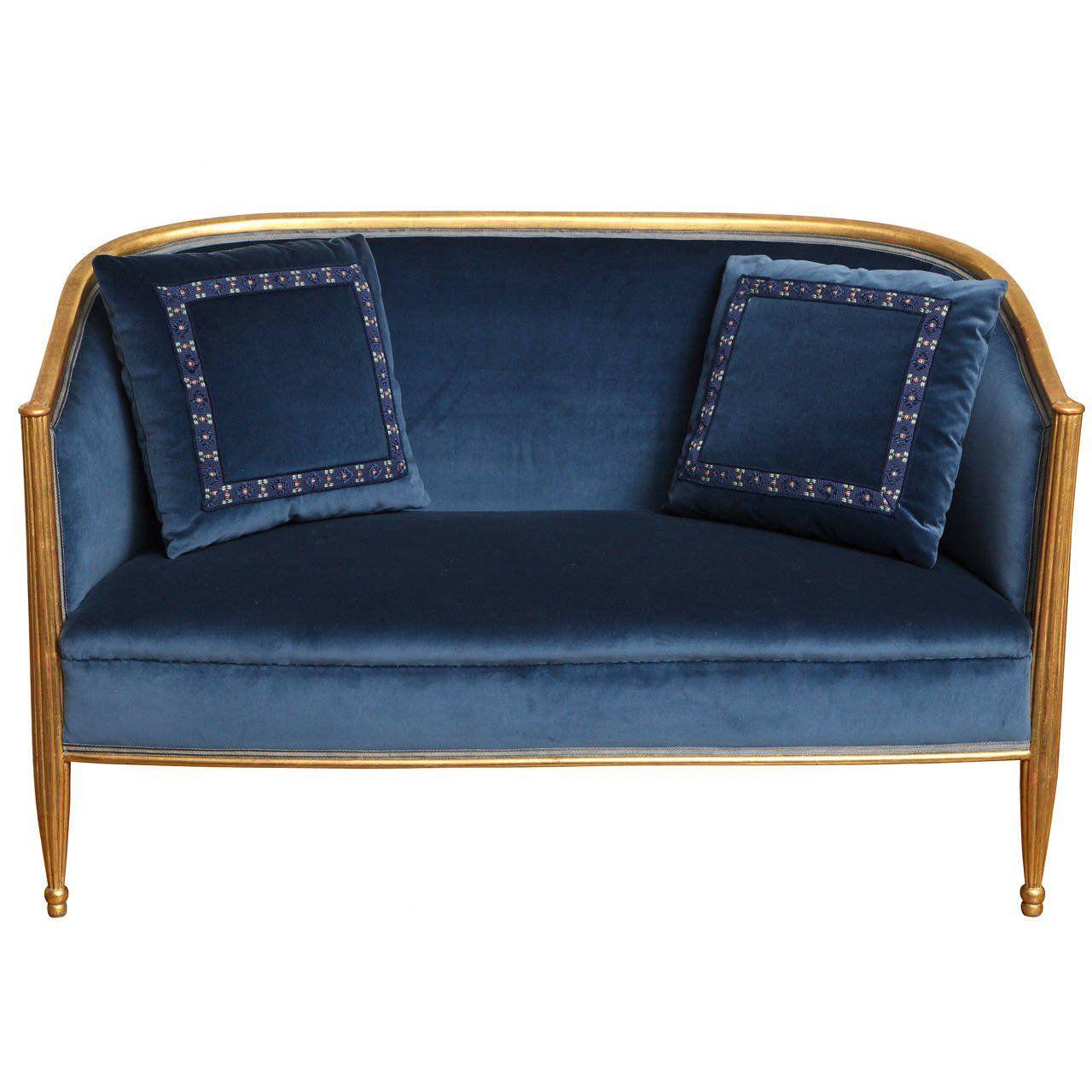 French Art Deco Sofa In The Manner Of Paul Follot Art Deco Sofa