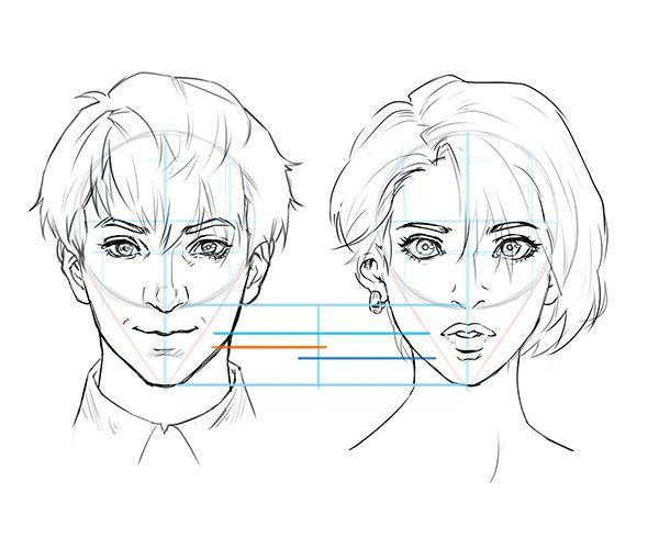 基本から徹底解説 正面顔と横顔の描き方 ref pinterest drawings