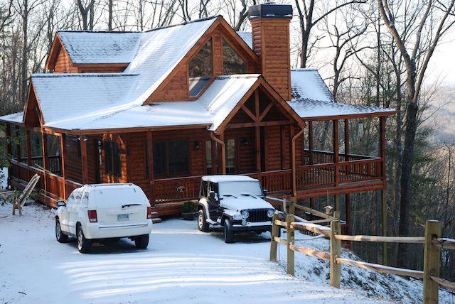 Blue Ridge Cabin In The Snow Blue Ridge Ga Snow Cabin