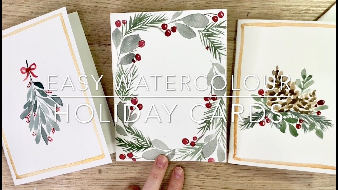 How To Make Easy Watercolour Holiday Cards With Images