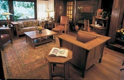 Use Simple Arts And Crafts Furnishings Give Your Home Contemporary Fresh Country Style These H Craftsman Interior Craftsman Style Homes Craftsman Living Rooms