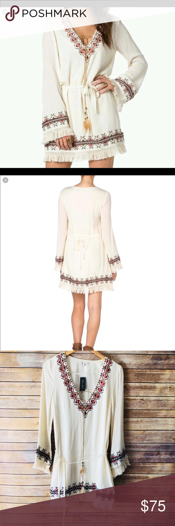 7ce61a7f167b Miss Me Woven Fringe Dress Oh so Boho! Perfect festival dress! Beautifully  embroidered