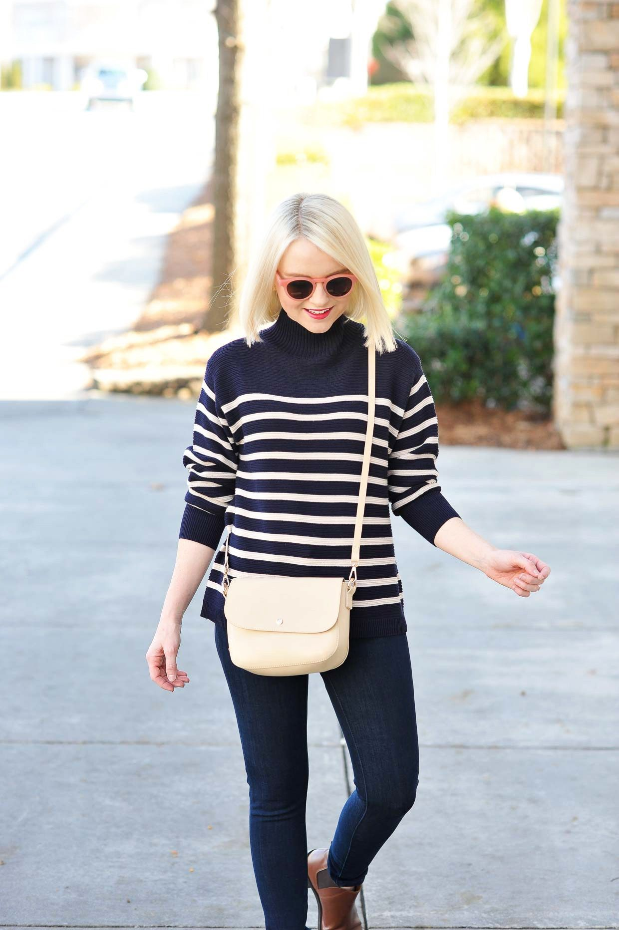 faa27c5dc6c Topshop Striped Turtleneck Sweater - Poor Little It Girl