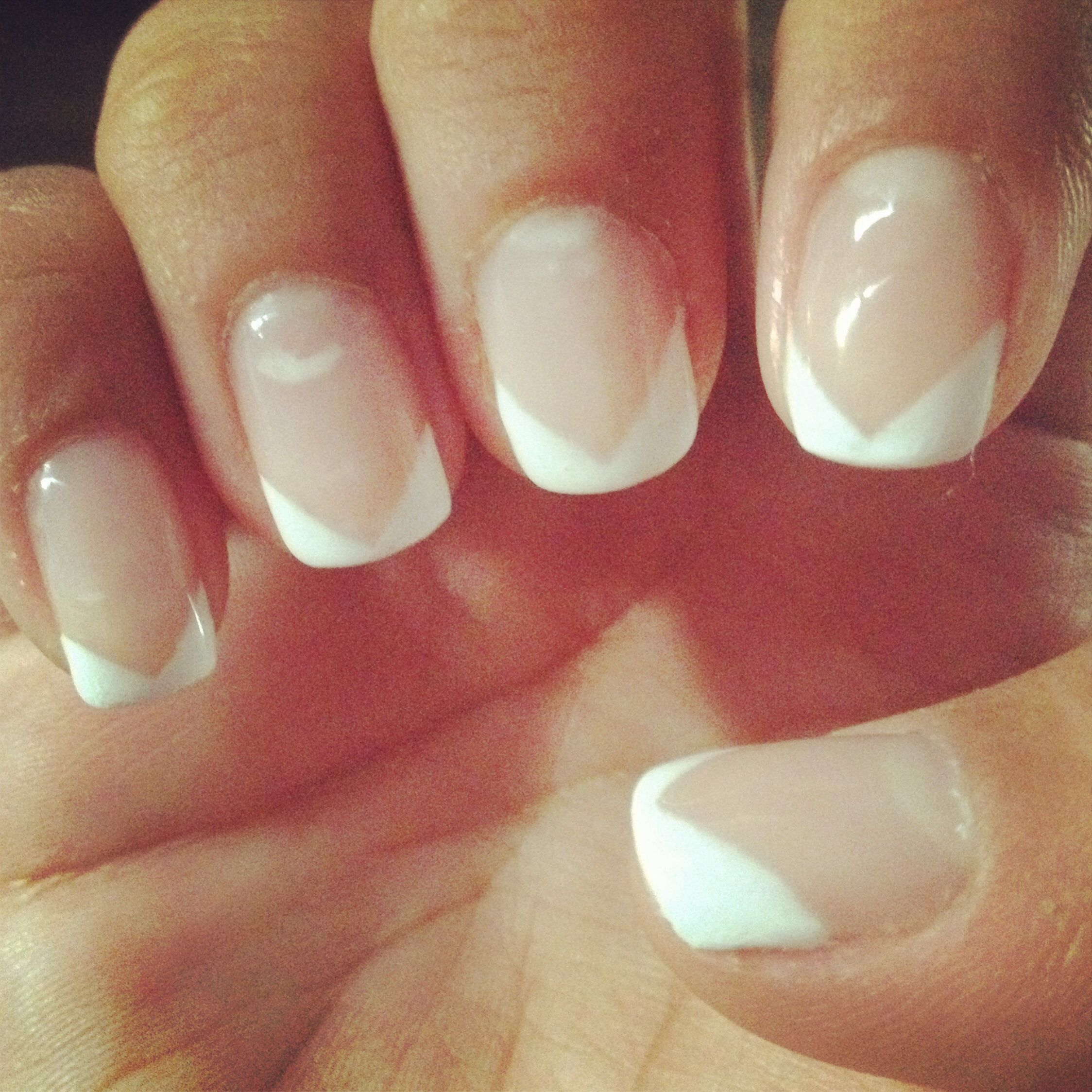 Gel Manicure V Shape French French Manicure Nail Designs Manicure Nail Designs Gel Nail Art Designs