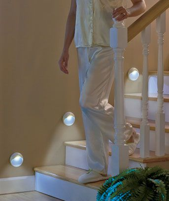 This Set Of 3 Motion Sensor Stair Lights Illuminates Your Path While Walking Down A Hallway Or Staircase At Night Activates The When