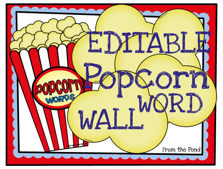 Popcorn Words {Classroom Display} | Popcorn words, Popcorn and Literacy